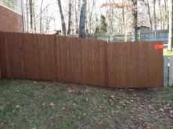 Wood Stained Fence