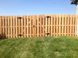 Wood Shadowbox Fence